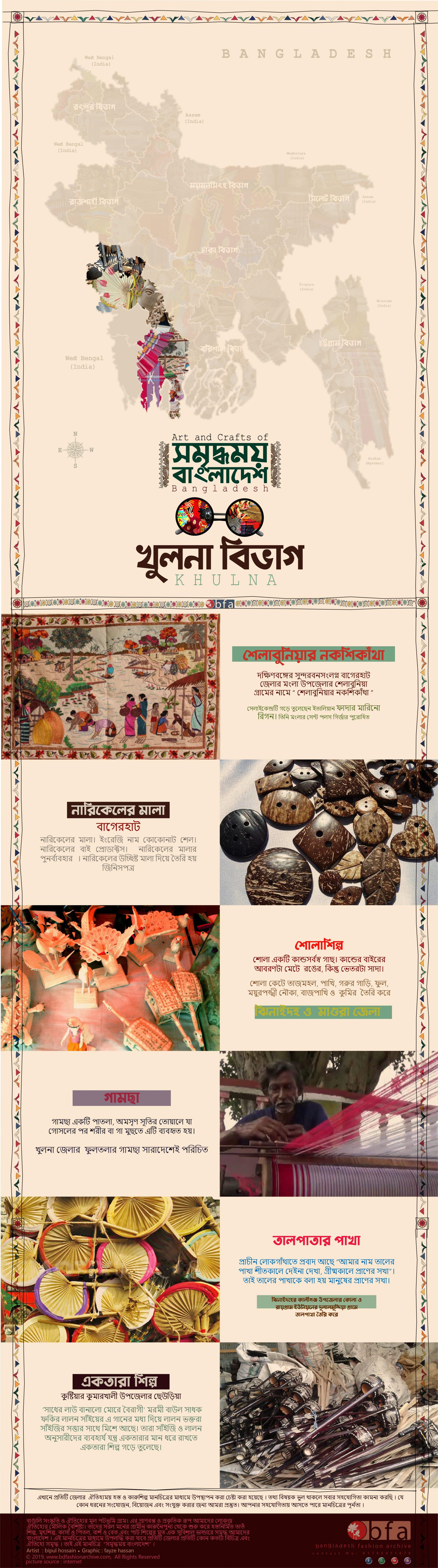 art and craft map of khulna division bang
