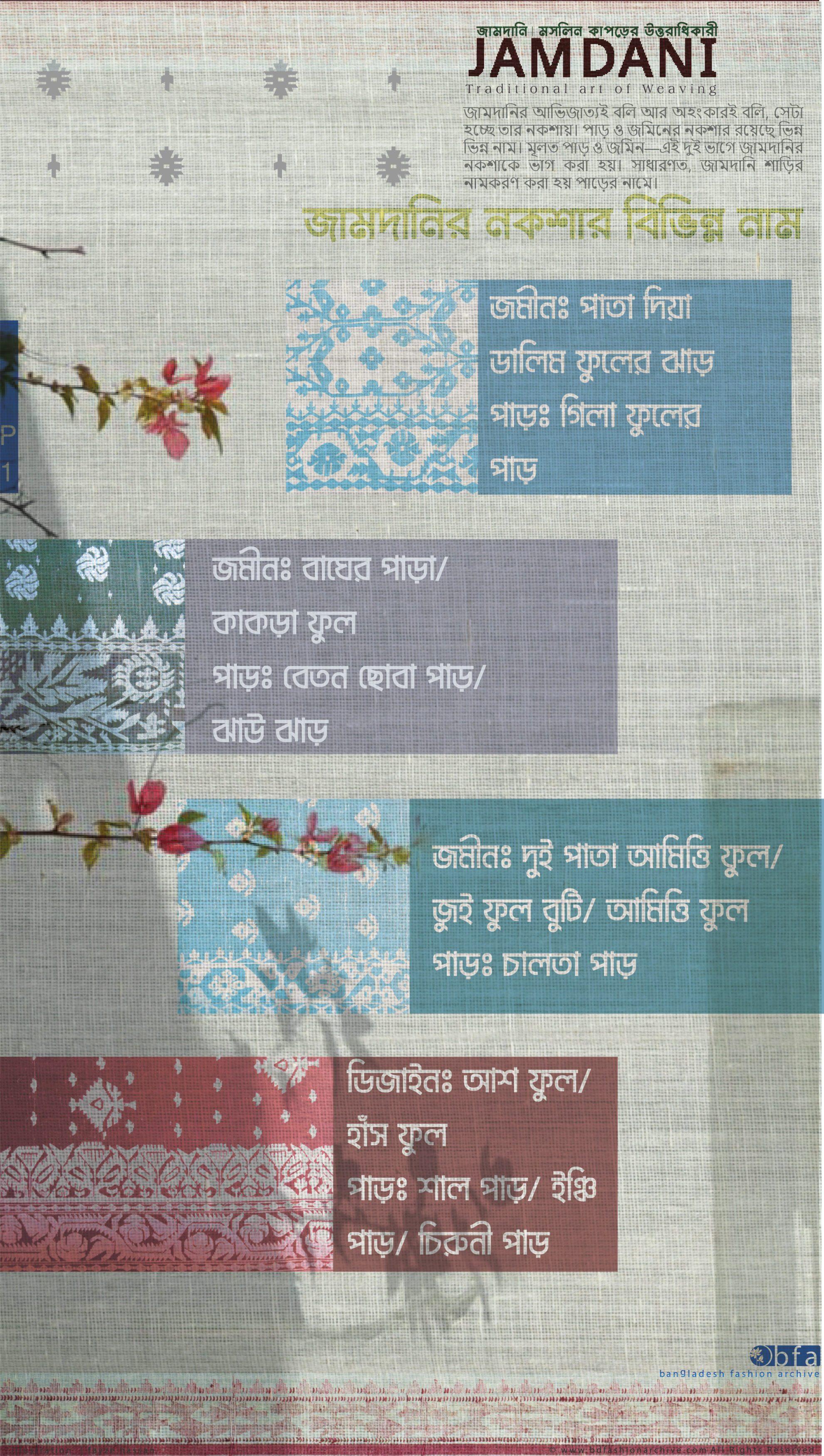 JAMDANI | source of the design | জামদানি নকশার উৎস
